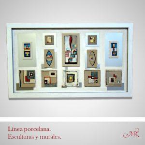 Colección murales y esculturas en porcelana