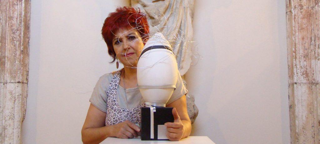 María en su exposición en el Monasterio de San Juan en Burgos